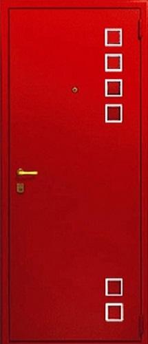 красная стальная дверь