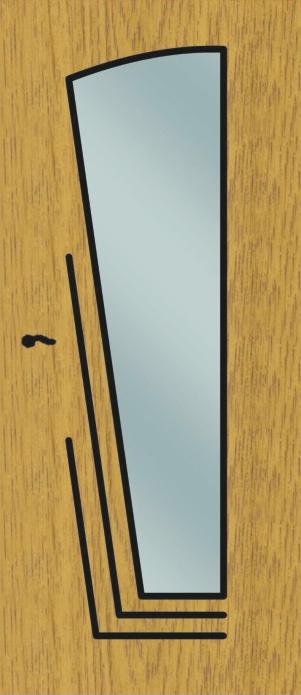 железные двери с зеркальной вставкой