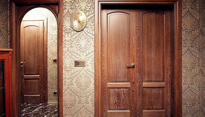 дверь входная в кабинет сплошной шпон